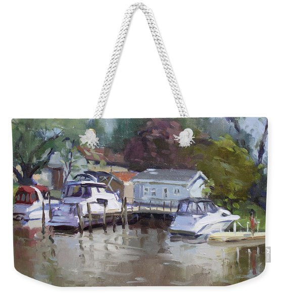 Sunny Sunday At The Canal Weekender Tote Bag