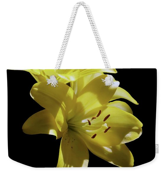Sunny Yellow Lilies Weekender Tote Bag