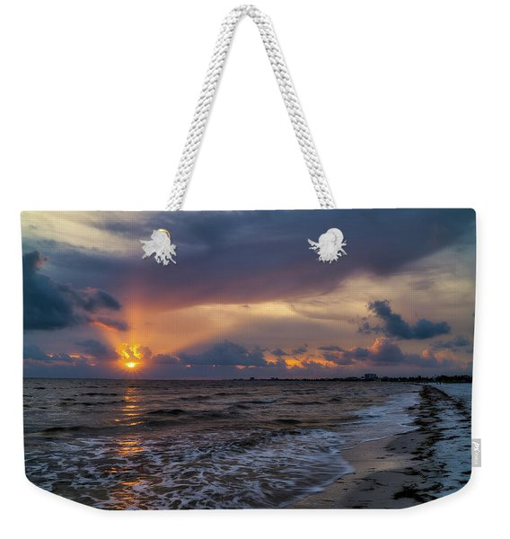 Sunrays Over The Gulf Of Mexico Weekender Tote Bag