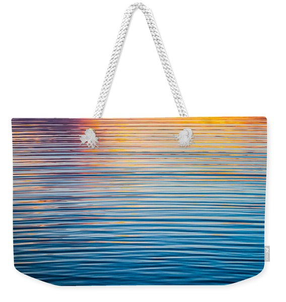 Sunrise Abstract On Calm Waters Weekender Tote Bag