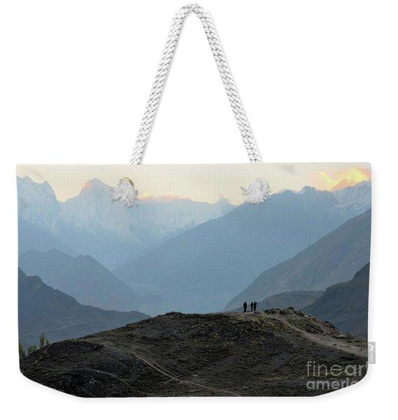 Sunrise Among The Karakoram Mountains In Hunza Valley Pakistan Weekender Tote Bag