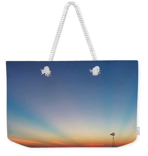 Sunrise And Windmill 01 Weekender Tote Bag