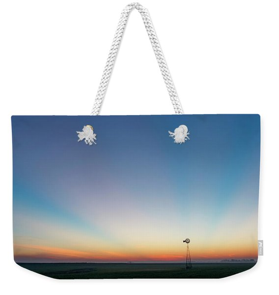 Sunrise And Windmill 03 Weekender Tote Bag