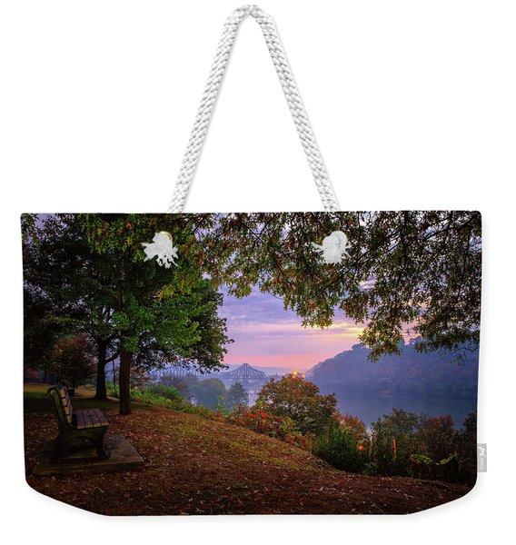 Sunrise At River Rd  Weekender Tote Bag