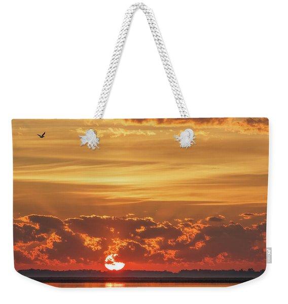 Sunrise At Cheyenne Bottoms 02 Weekender Tote Bag