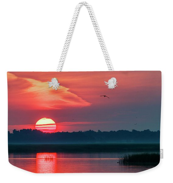 Sunrise At Cheyenne Bottoms 03 Weekender Tote Bag