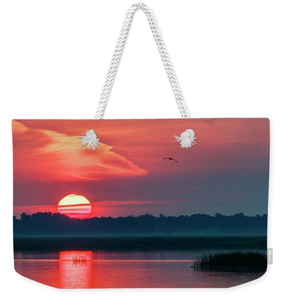 Sunrise At Cheyenne Bottoms 03 Weekender Tote Bag