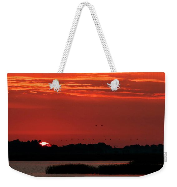 Sunrise At Cheyenne Bottoms 04 Weekender Tote Bag