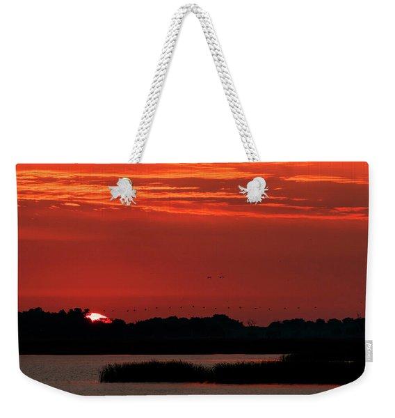 Sunrise At Cheyenne Bottoms 04 Weekender Tote Bag