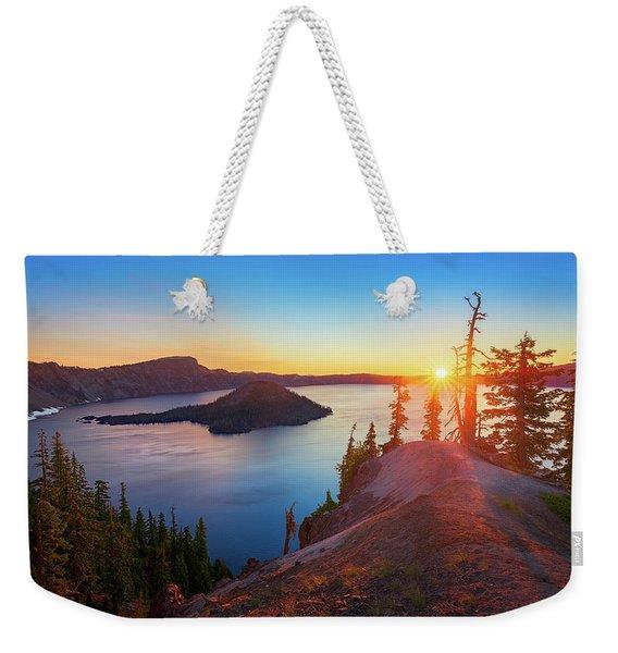 Sunrise At Crater Lake Weekender Tote Bag