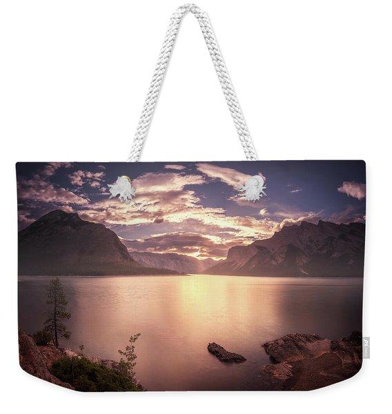 Sunrise At Lake Minnewanka Weekender Tote Bag
