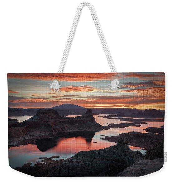 Sunrise At Lake Powell Weekender Tote Bag