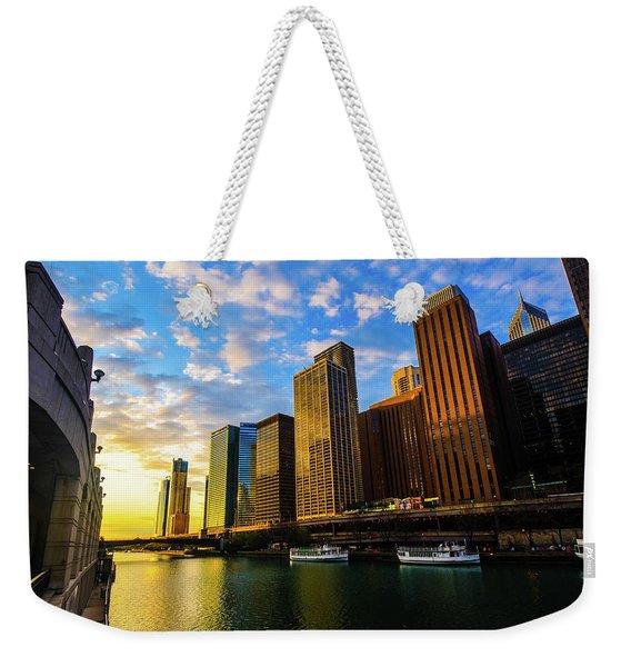 Sunrise At Navy Pier Weekender Tote Bag
