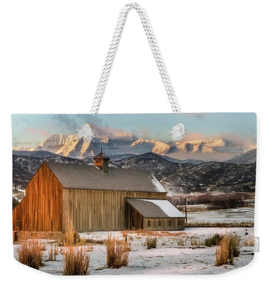 Sunrise At Tate Barn Weekender Tote Bag