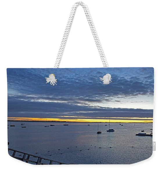 Sunrise At The Barnstable Yacht Club Weekender Tote Bag