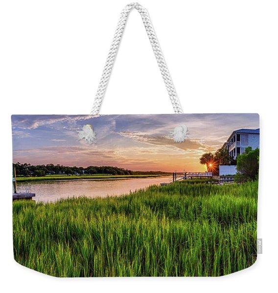 Sunrise At The Boat Ramp Weekender Tote Bag