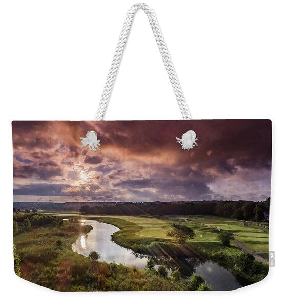 Sunrise At The Course Weekender Tote Bag