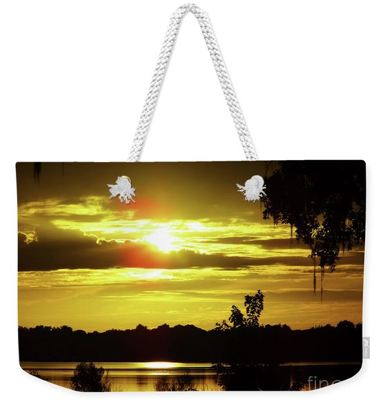 Sunrise At The Lake Weekender Tote Bag