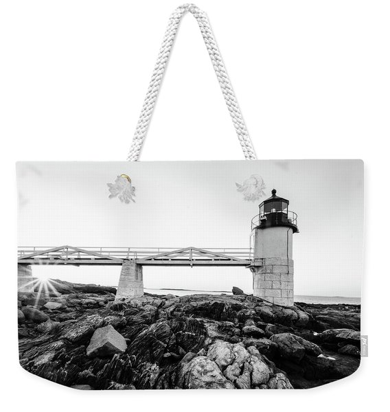 Marshall Point Lighthouse Shoreline Weekender Tote Bag