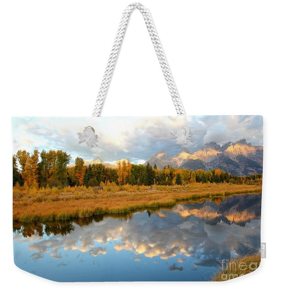 Sunrise On The Grand Tetons Weekender Tote Bag