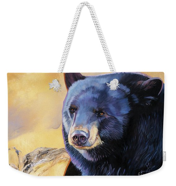 Sunrise Bear Weekender Tote Bag