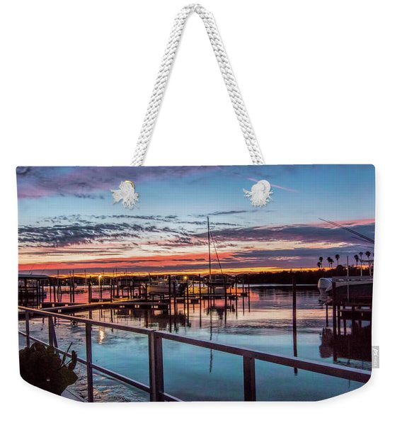 Sunrise Christmas Morning Weekender Tote Bag