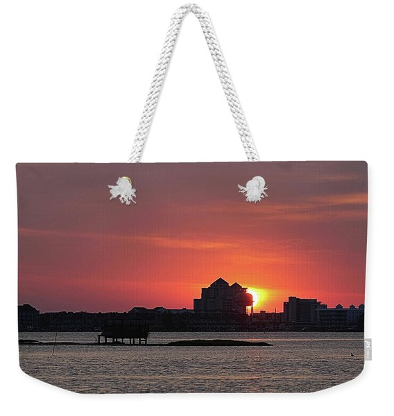 Sunrise Circles The Water Tower Weekender Tote Bag
