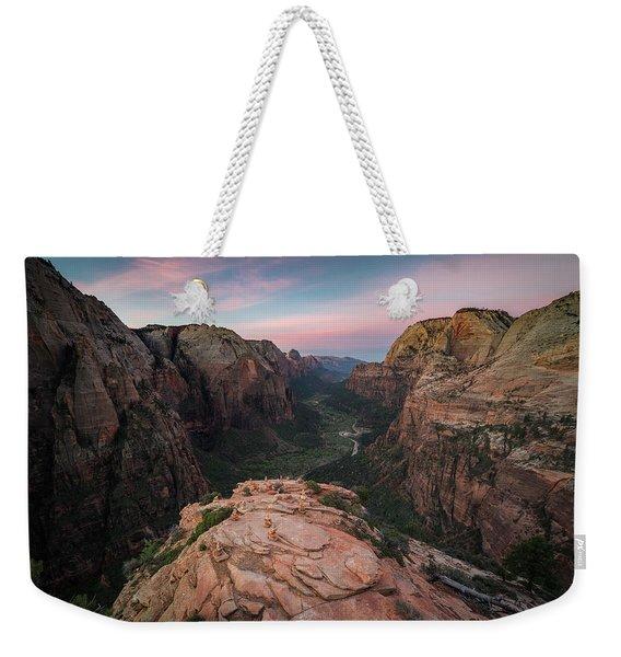 Sunrise From Angels Landing Weekender Tote Bag