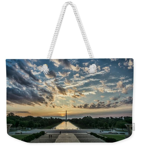 Sunrise From The Steps Of The Lincoln Memorial In Washington, Dc  Weekender Tote Bag