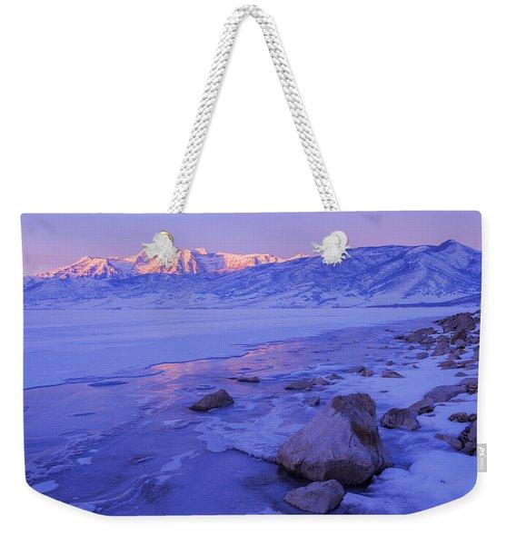 Sunrise Ice Reflection Weekender Tote Bag