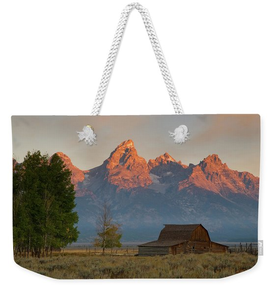 Sunrise In Jackson Hole Weekender Tote Bag