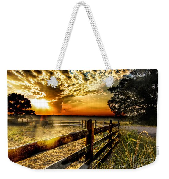 Sunrise In Summer Weekender Tote Bag