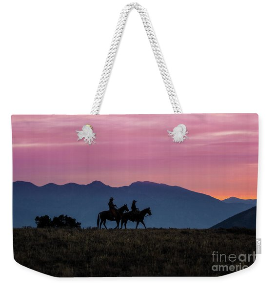 Sunrise In The Lost River Range Wild West Photography Art By Kay Weekender Tote Bag
