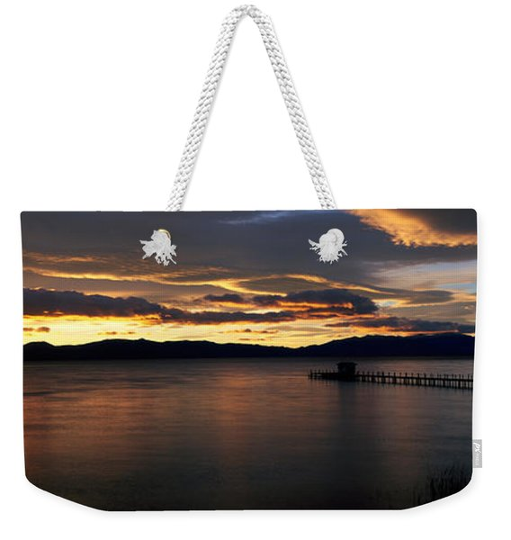 Sunrise Lake Tahoe Ca Weekender Tote Bag