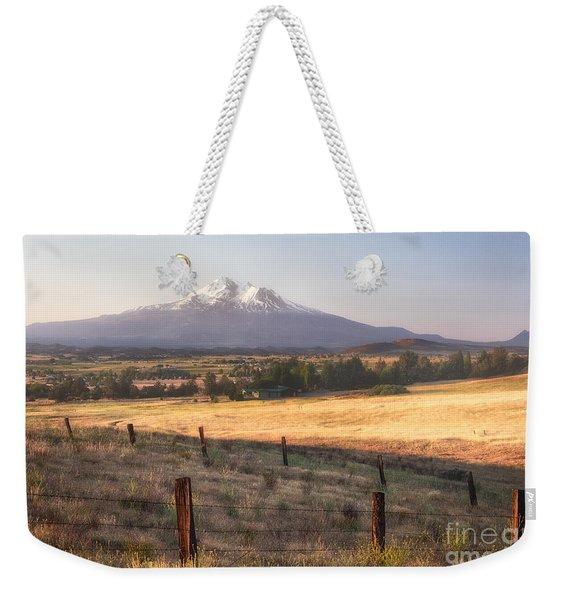 Sunrise Mount Shasta Weekender Tote Bag