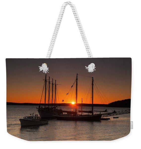 Sunrise On Bar Harbor Weekender Tote Bag