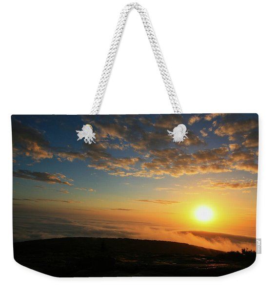 Sunrise On Cadillac Mountain Weekender Tote Bag
