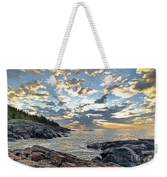 Sunrise On Christmas Cove Weekender Tote Bag