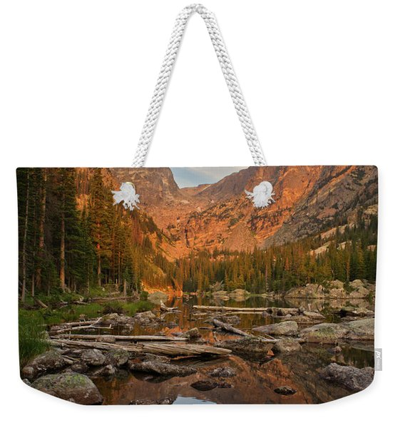 Sunrise On Dream Lake Weekender Tote Bag