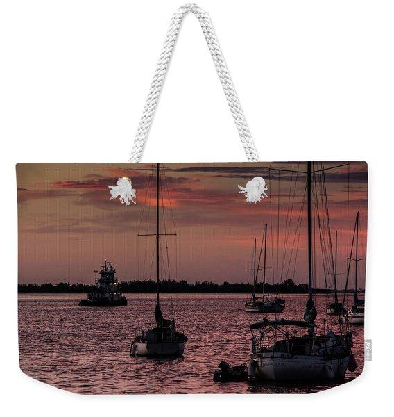Sunrise On Sarasota Bay, Bradenton Beach Weekender Tote Bag