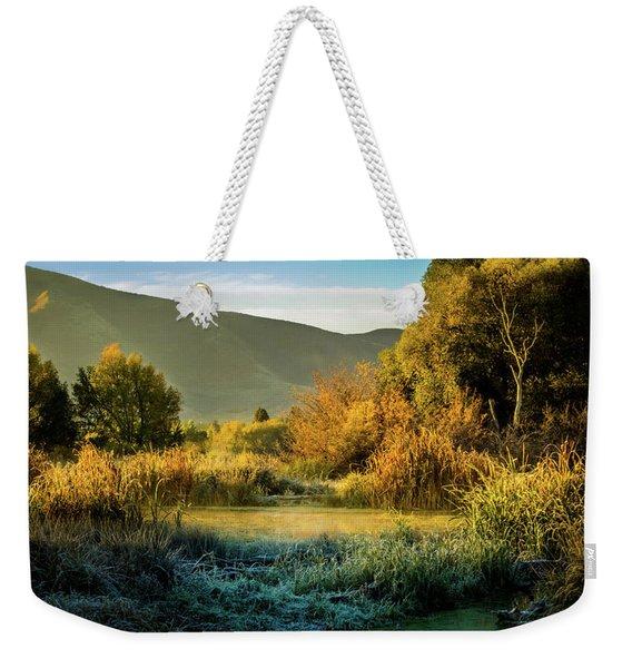 Sunrise On The Duck Marsh Weekender Tote Bag