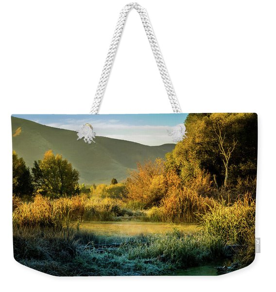 Sunrise On The Duck Marsh Weekender Tote Bag