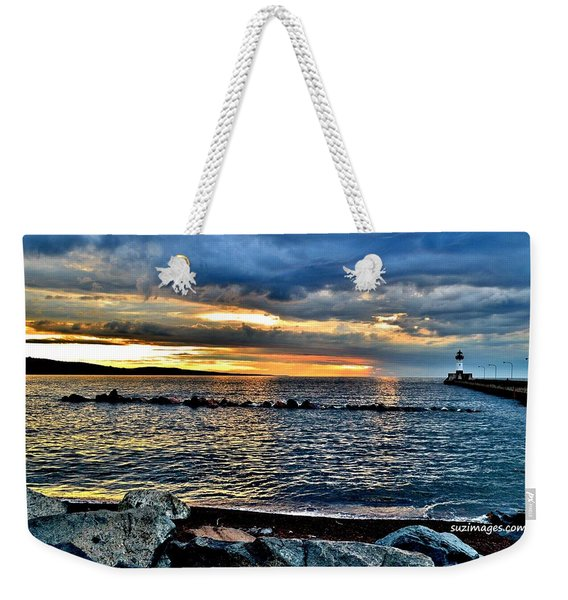Sunrise On The Rocks Weekender Tote Bag