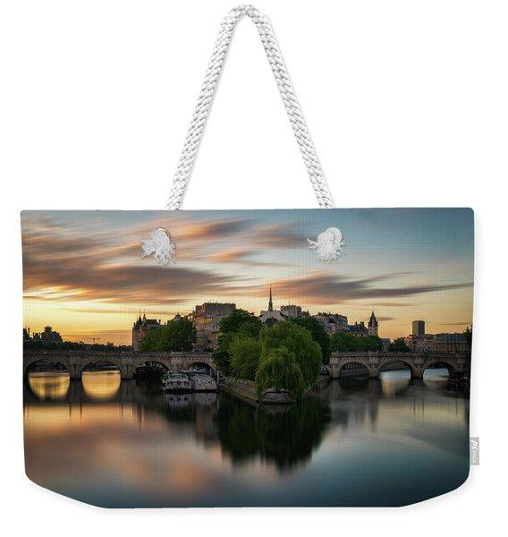Sunrise On The Seine Weekender Tote Bag