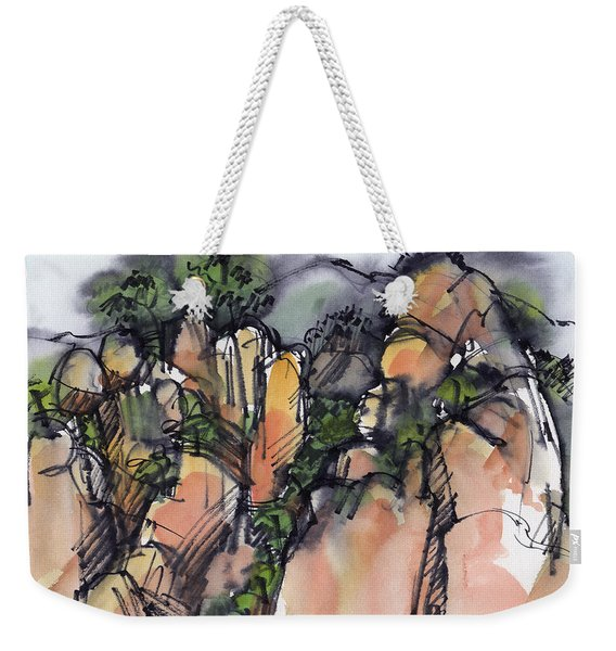 Sunrise On The Yellow Mountain, China Weekender Tote Bag