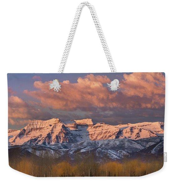 Sunrise On Timpanogos Weekender Tote Bag