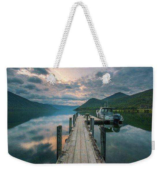 Sunrise Over Lake Rotoroa Weekender Tote Bag