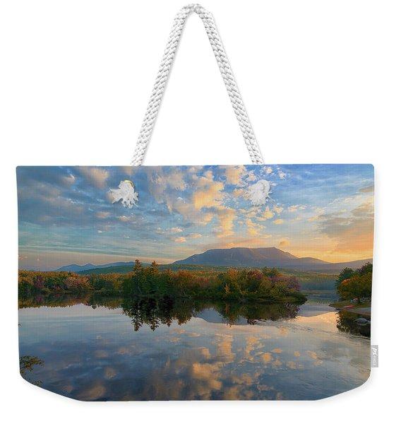 Sunrise Over Mt. Katahdin Weekender Tote Bag