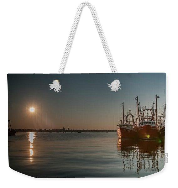 Sunrise Over New Bedford, Weekender Tote Bag