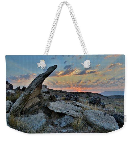 Sunrise Over Redlands Mesa In Grand Junction Weekender Tote Bag